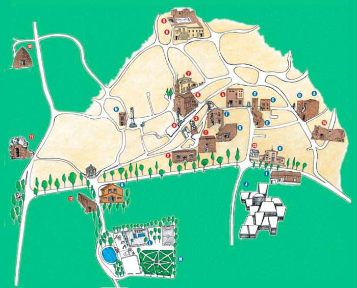 mapa de fuendetodos