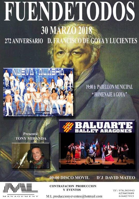 Fiesta aniversario de Goya