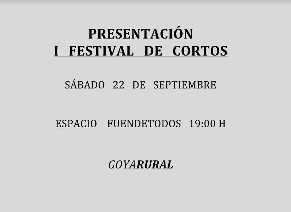1 festival de cortos