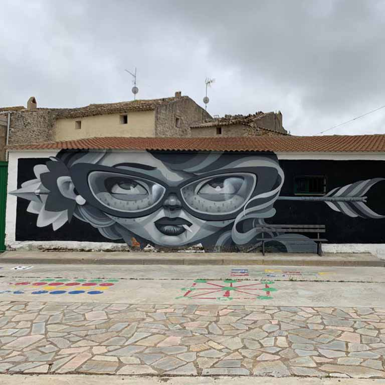 Fuendetodos-Goya-street-art-danger