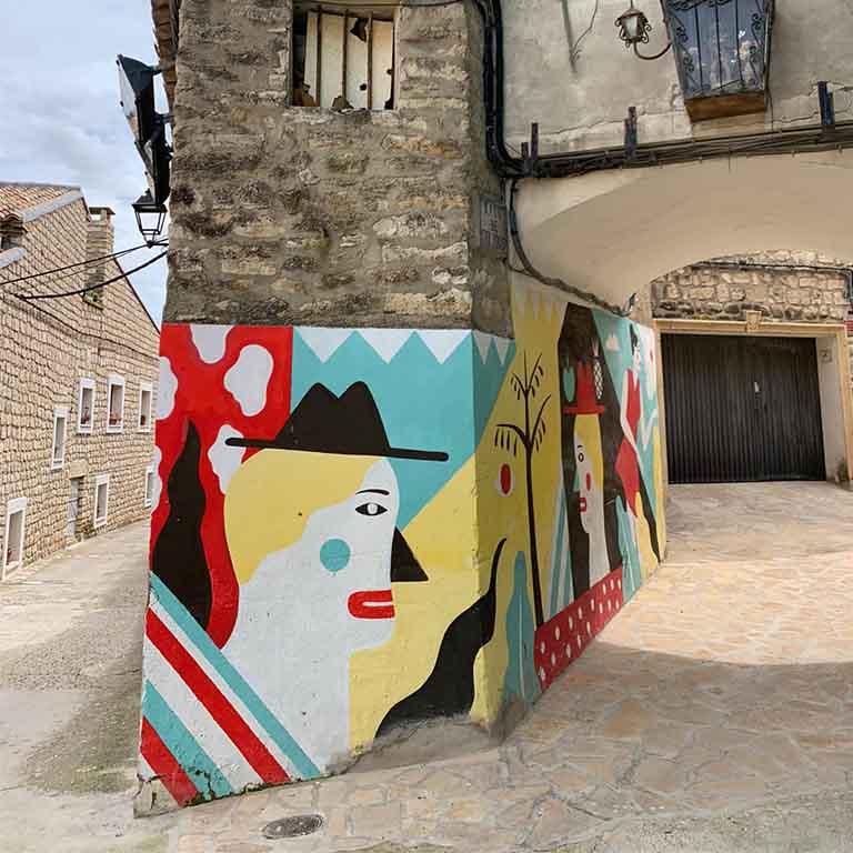 Fuendetodos-Goya-street-art-harsa-arantxa
