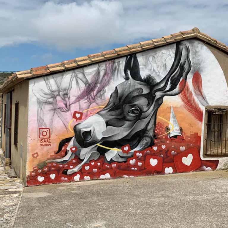 Fuendetodos-Goya-street-art-isaac-mahow