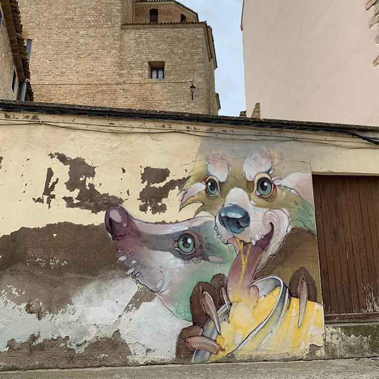 Fuendetodos-Goya-street-art-treze