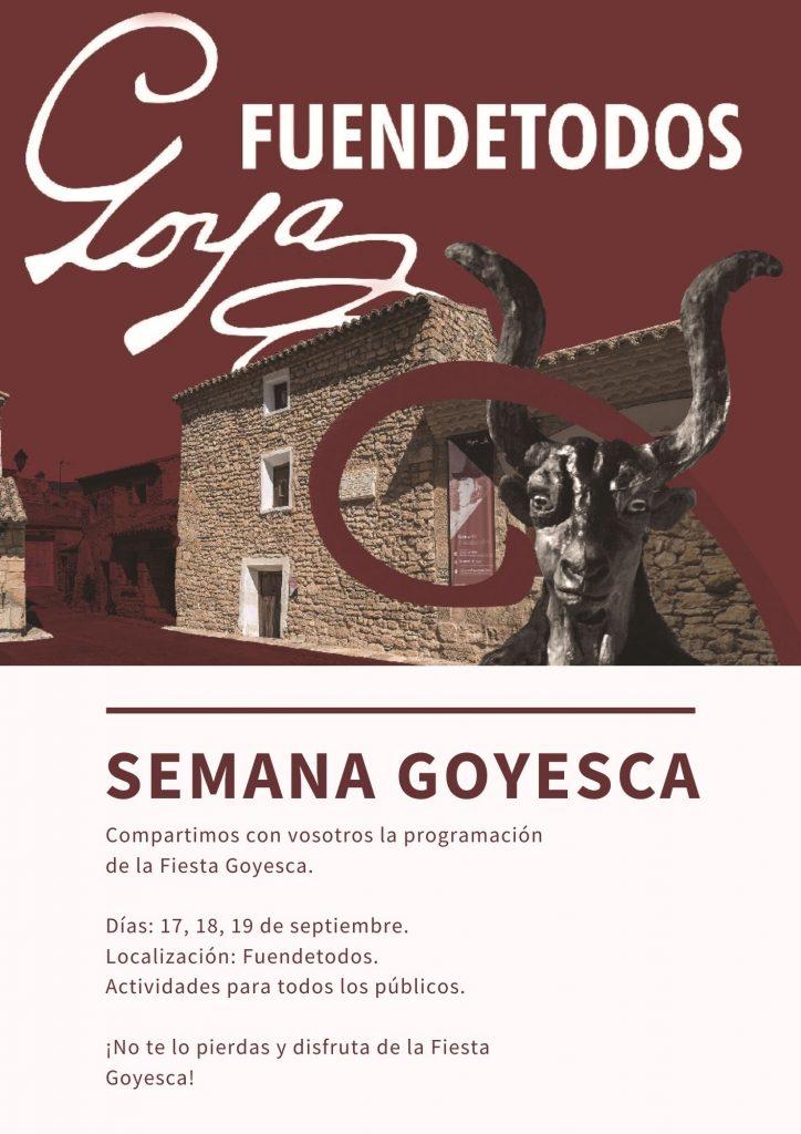 Cartel semana Goyesca